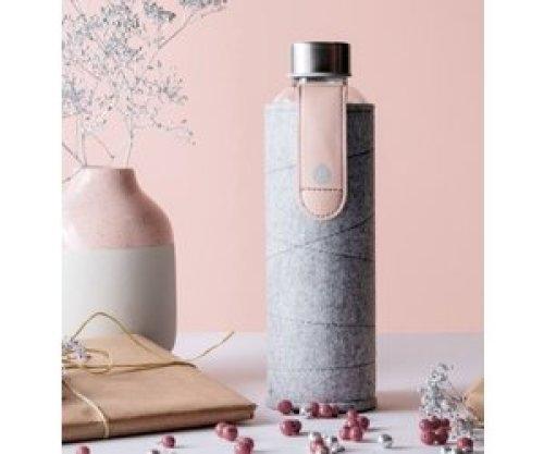 Glazen drinkfles met cover - Pink breeze 750 ml