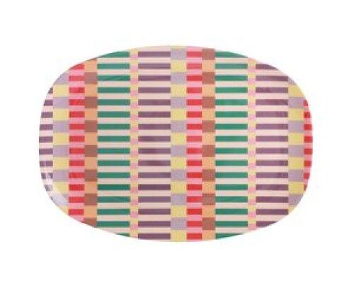 Langwerpig melamine bord - Summer stripes