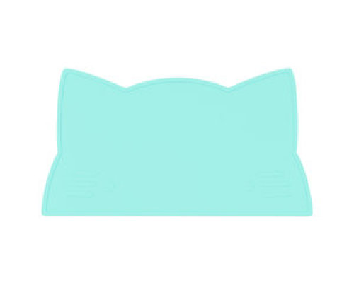 Placemat cat - Minty green