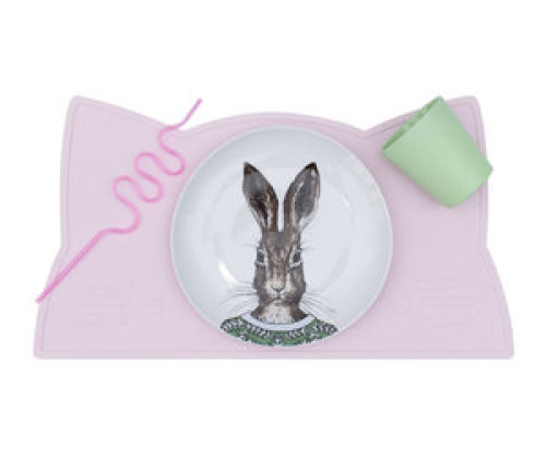 Placemat cat - Powder pink