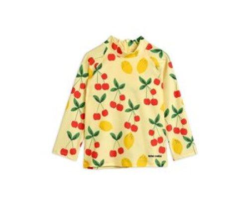 Mini Rodini Cherry lemonade UV top - Yellow