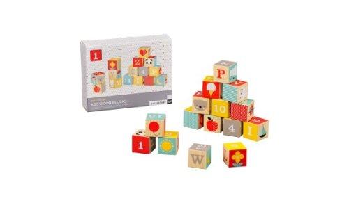 Petit Collage alfabet houten blokken