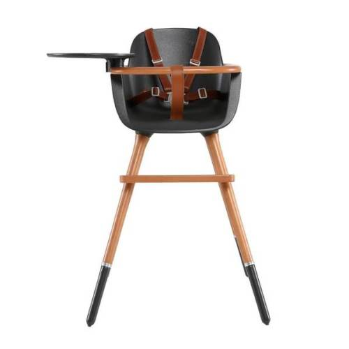 Micuna - Ovo City Luxe High Chair - with brown leatherette harness
