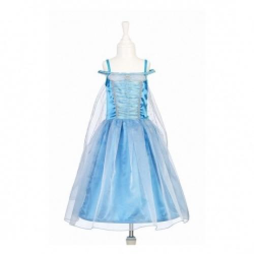 Luxe prinsessenjurk blauw maat 8 - 10 jaar