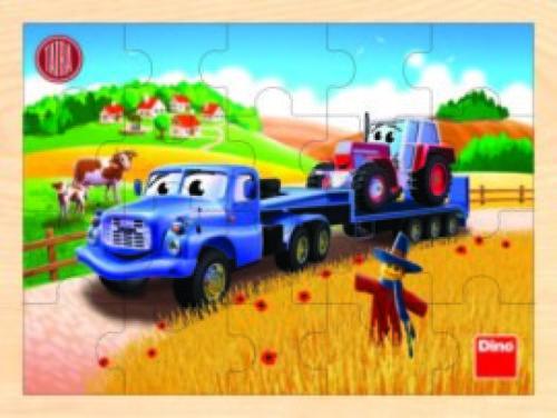 Houten Legpuzzel - Landbouwvoertuigen