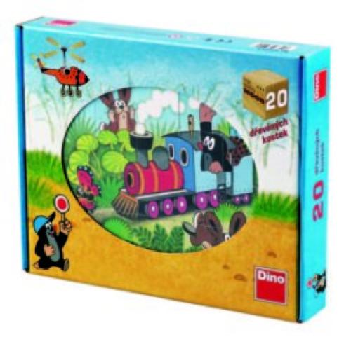 Molletje en vriendjes - Houten blokpuzzel (20 stuks, 6-in-1 puzzel)