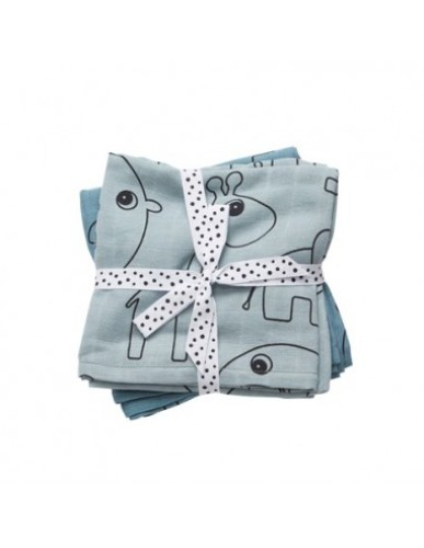 Done By Deer - Swaddle XL, 2-Pack, Contour, Blue