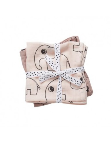 Done By Deer - Swaddle XL, 2-Pack, Contour, Powder
