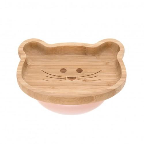 Lässig - Houten Bordje met zuignap|Little Chums Mouse