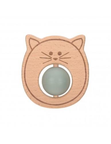 Lässig - Teether Ball Wood|Cat