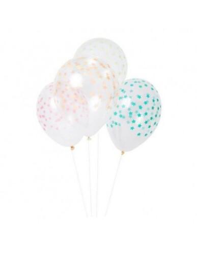 Meri Meri - 8 Star Pattern Balloons