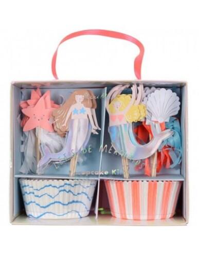 Meri Meri - Cupcake Kit ' Let's Be Mermaids '