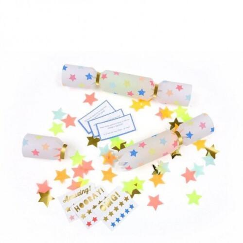 Meri Meri - Multicolor Star Confetti Crackers