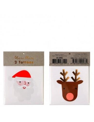 Meri Meri - Santa & Reindeer Tattoos