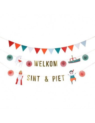 Meri Meri - Slinger Welkom Sint & Piet