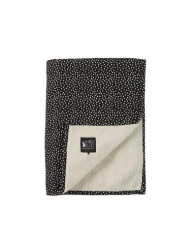 Mies & Co - Soft Teddy Blanket Big | Cozy Dots Black