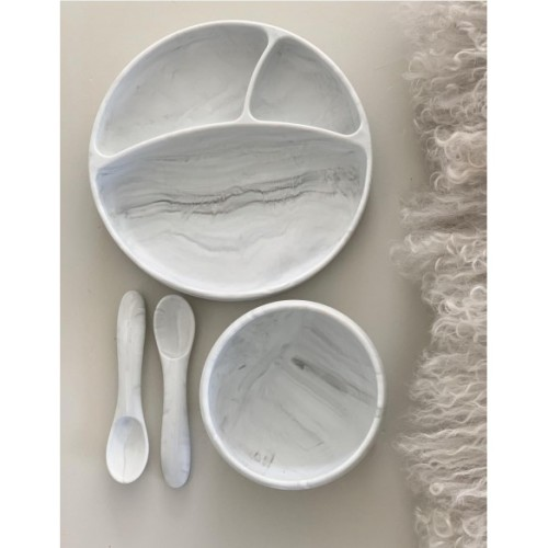 Play And Store - Bowl Marble met siliconen voet
