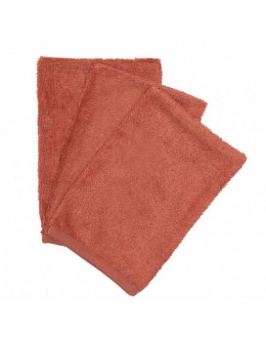 Timboo - Set van 3 washandjes Apricot Blush