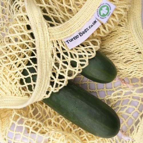 Turtle Bags - Organic Long Handle String Bag