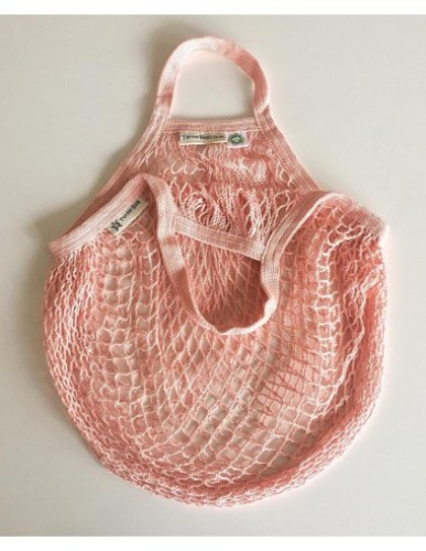 Turtle Bags - Short Handle String Bag Blush