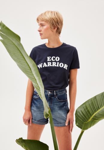 Statement t-shirt uit biokatoen