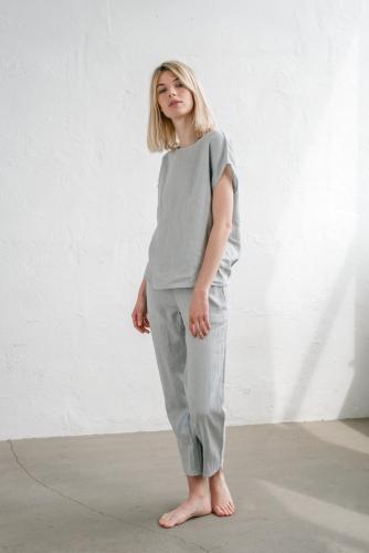 Linnen pyjamabroek / loungebroek