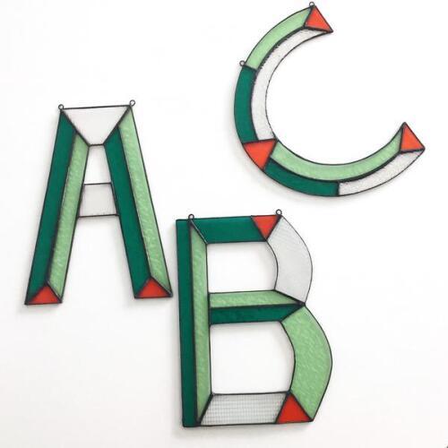Letters in Glas - Groen