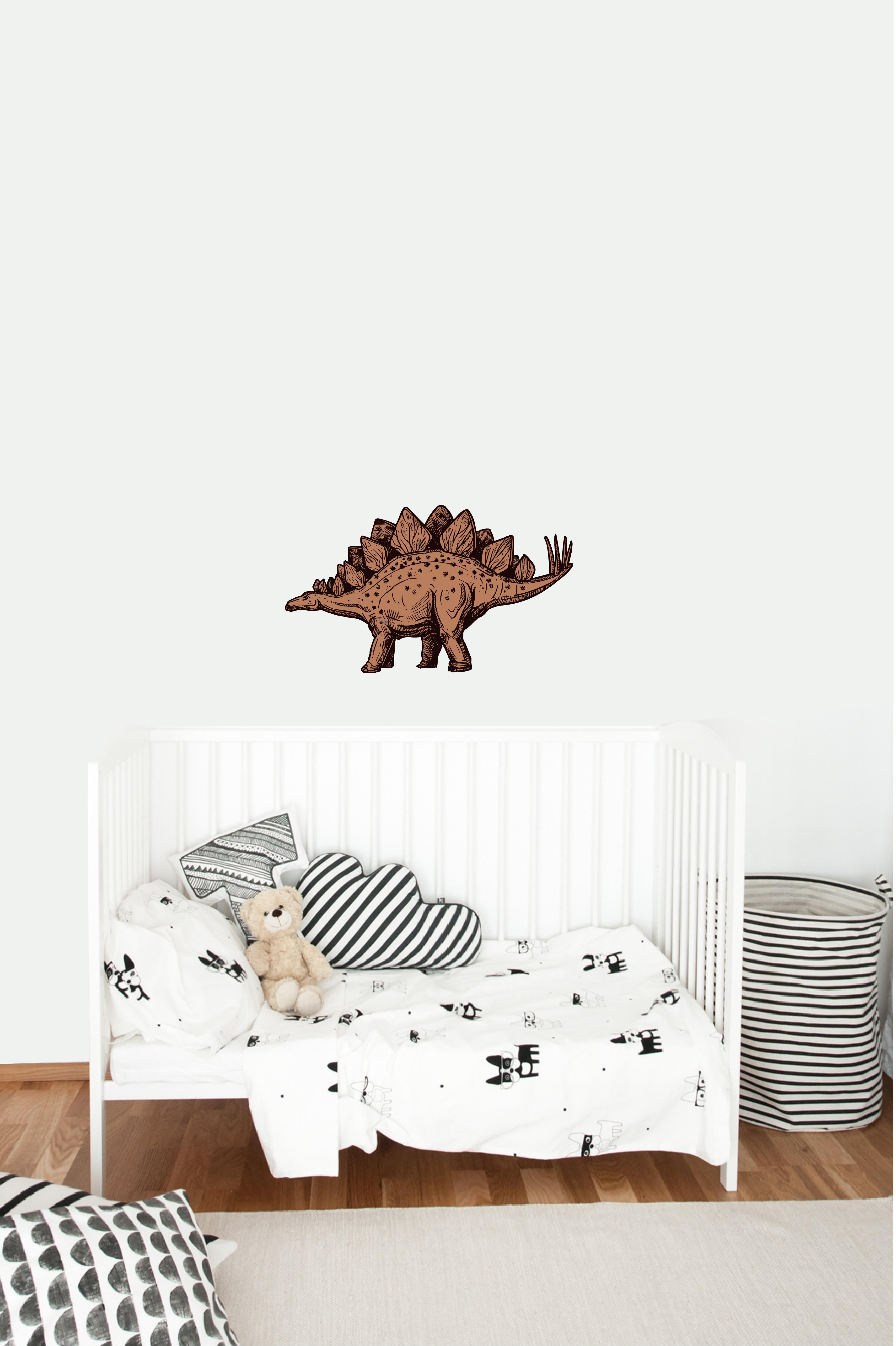 Muursticker stegosaurus