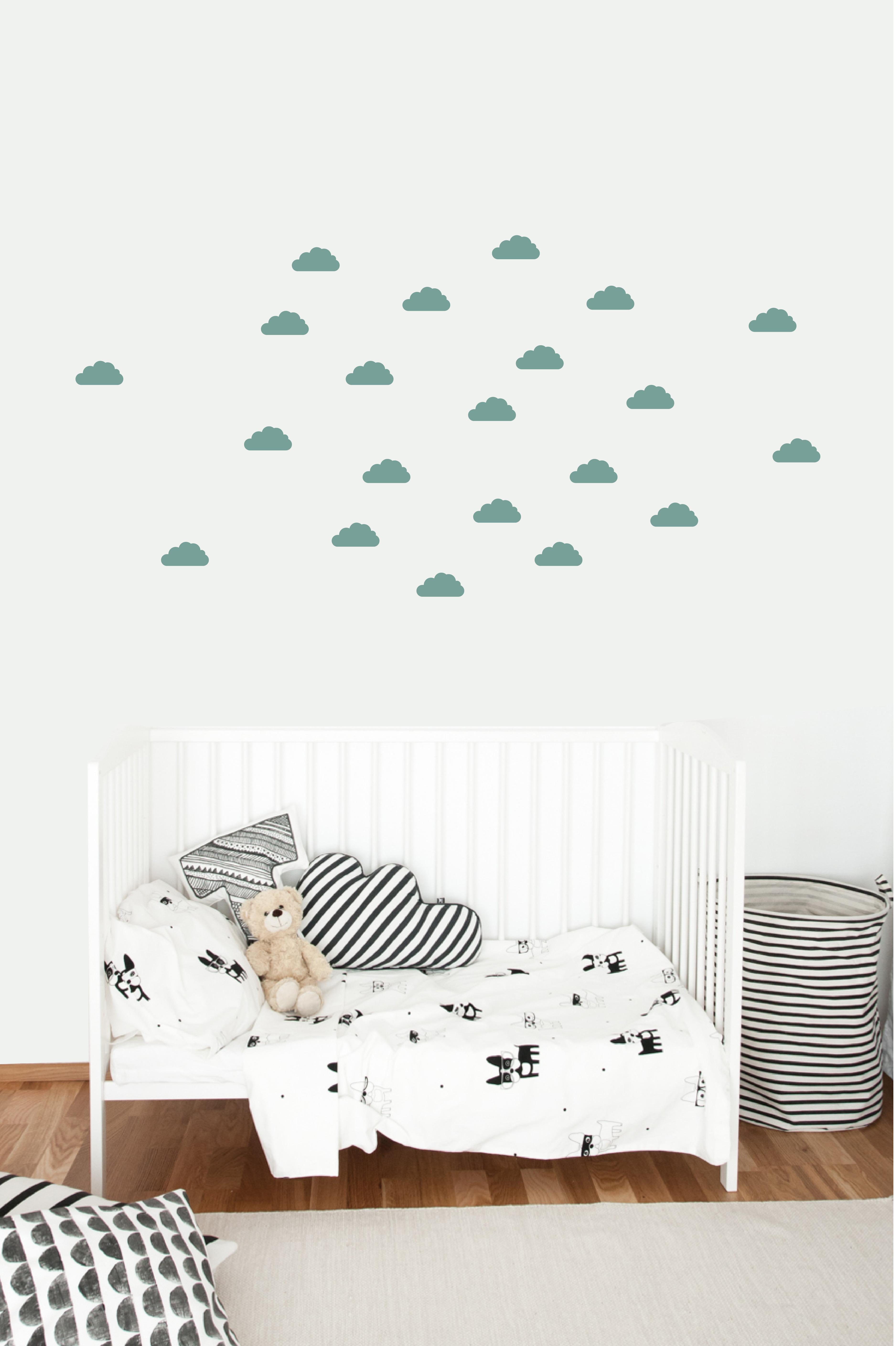 Muursticker clouds