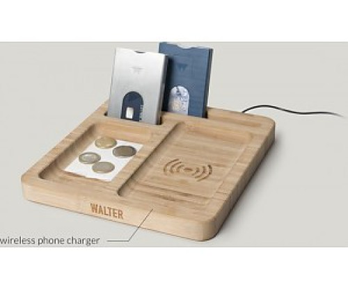 Walter bamboo dock with wireless charger