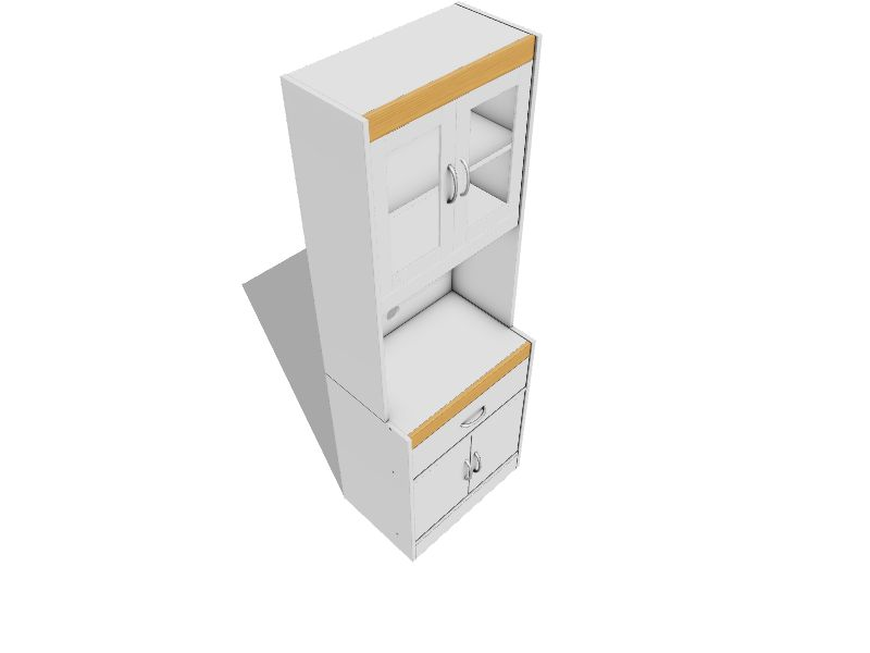 Hodedah White Wood Base With Wood Top Microwave Cart 15 75 In X 23 85 In X 70 86 In In The Kitchen Islands Carts Department At Lowes Com