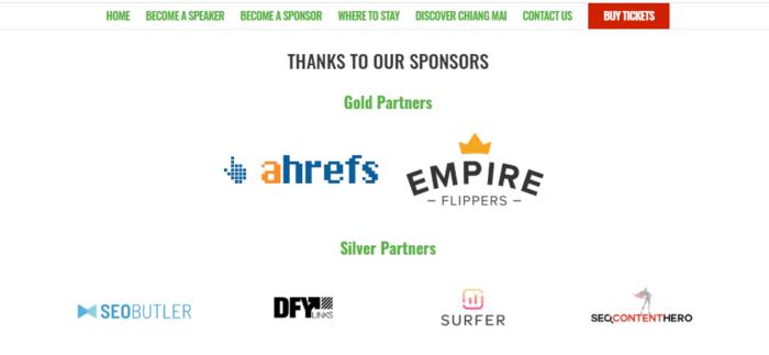 sponsoring link building