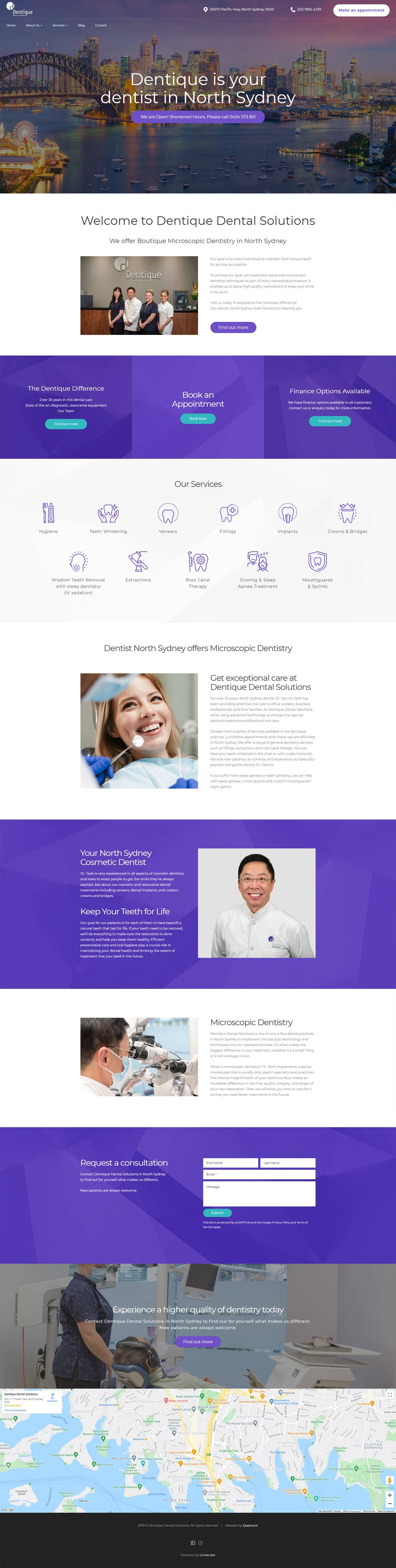 Dentique  Full Home Page