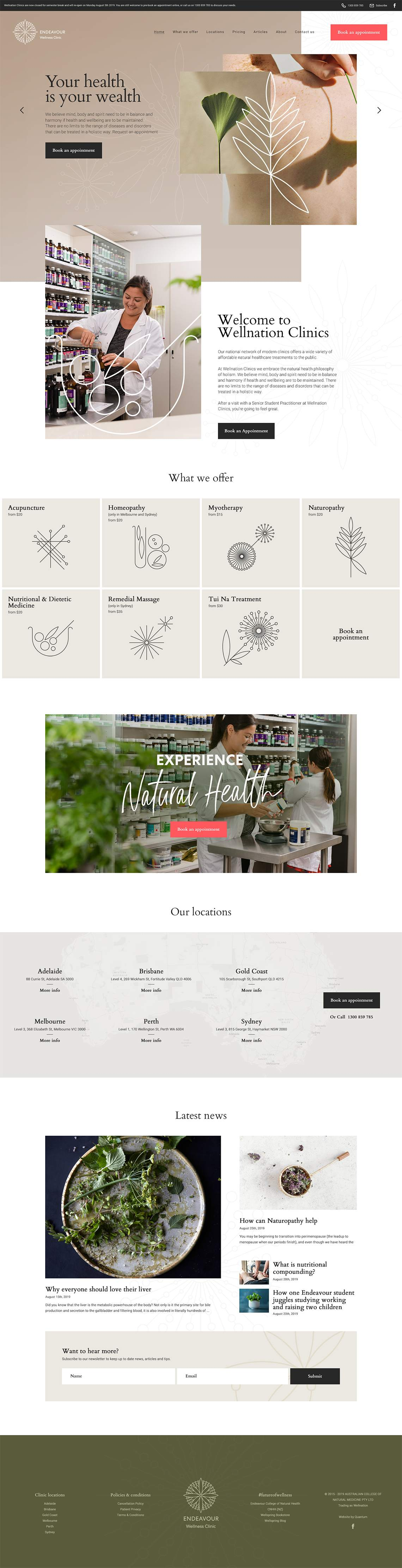 Endeavour Clinic Full Home Page