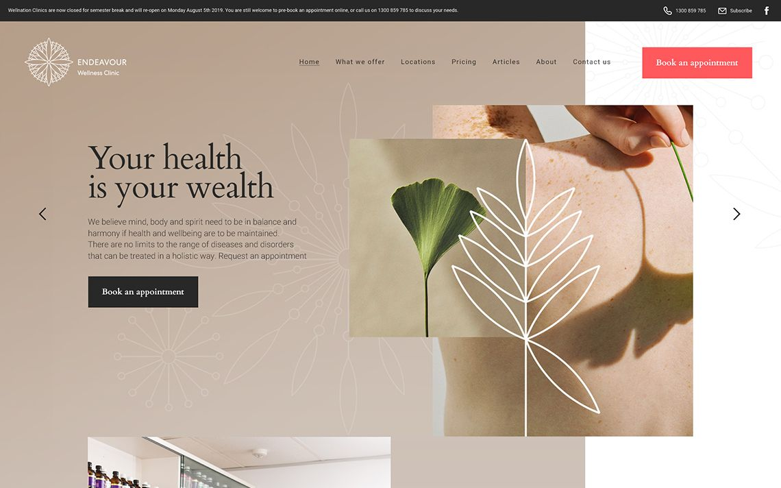 Endeavour Clinic Home Page