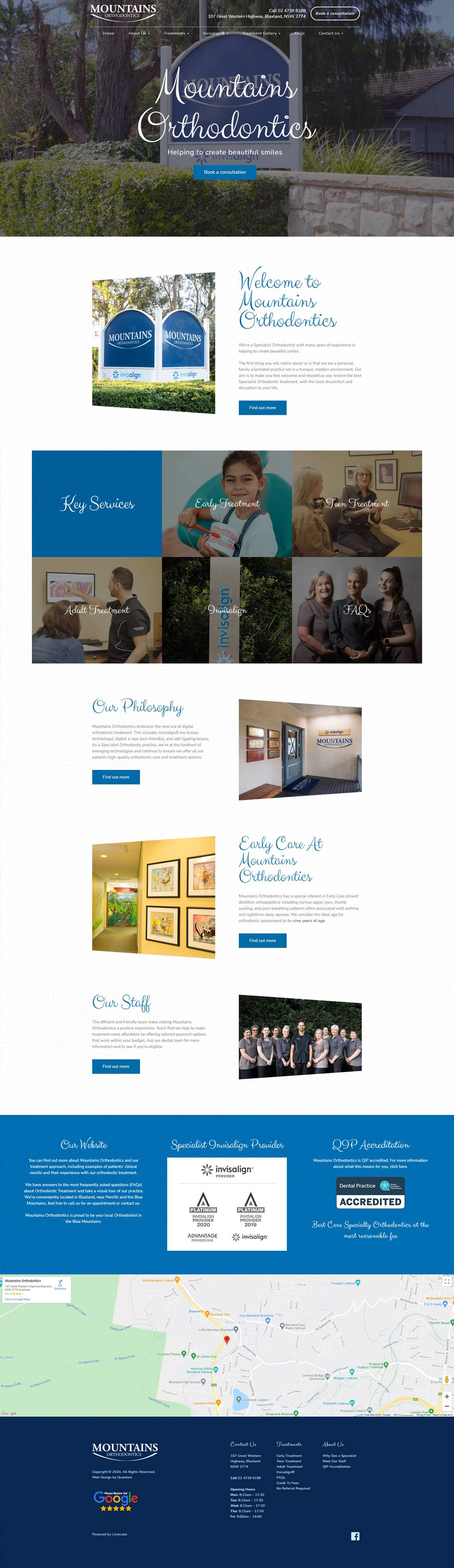 Mountain Orthodontics Full Home Page