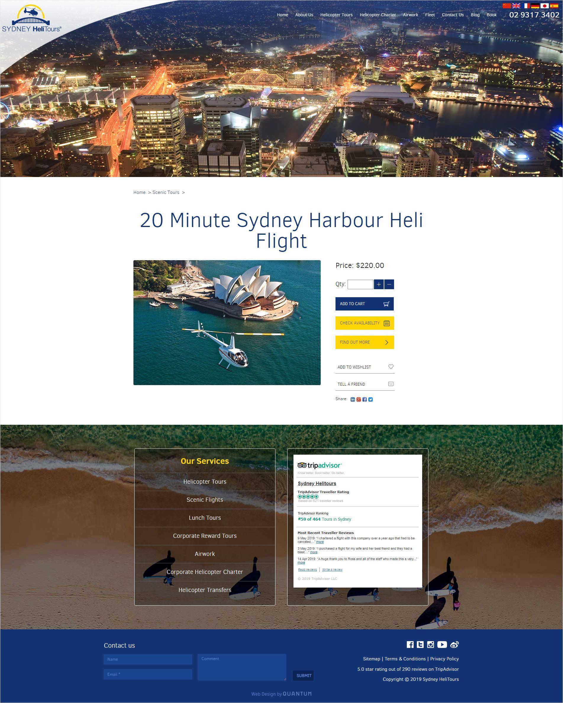 Sydney Helitours Book a Tour