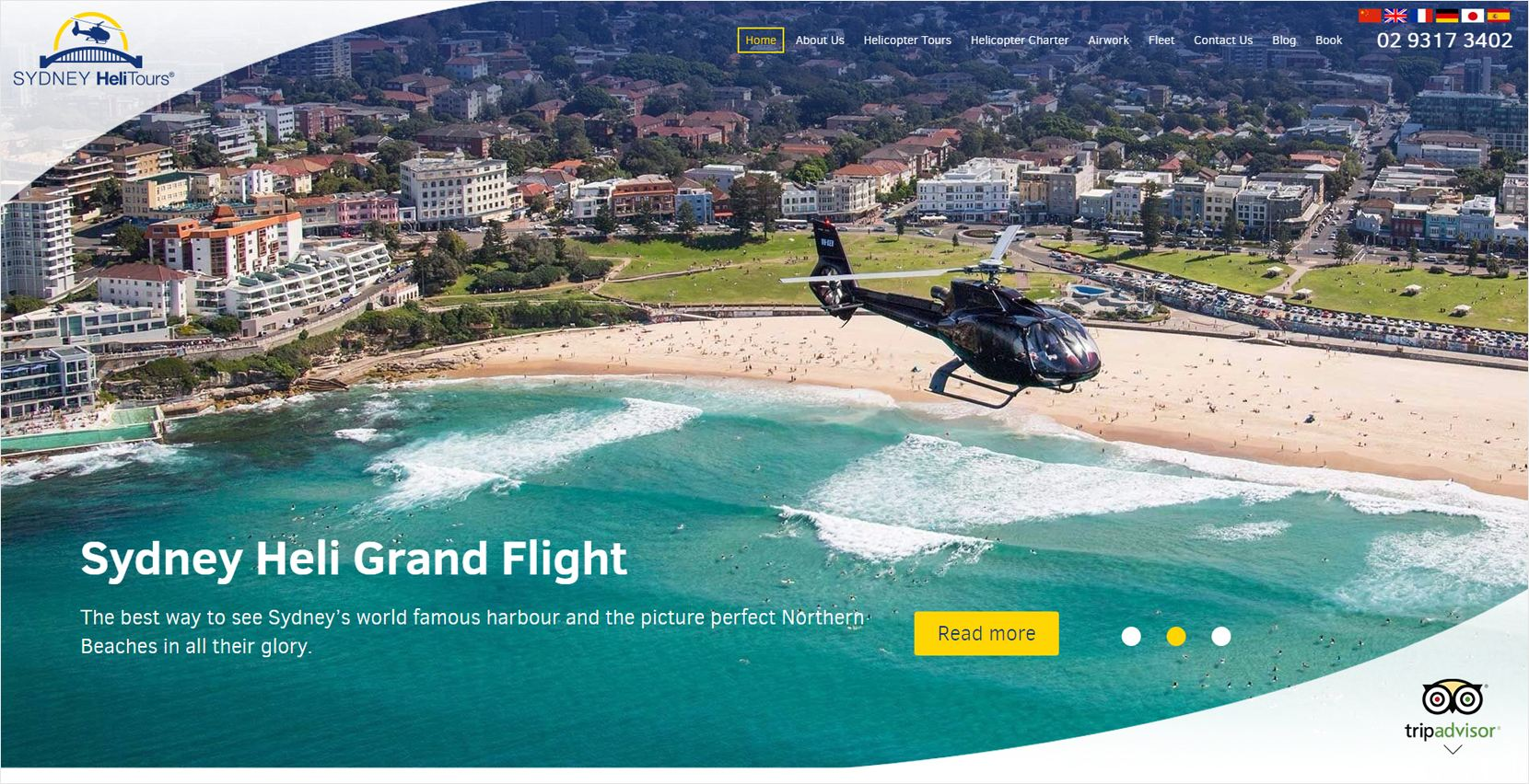 Sydney Helitours Website
