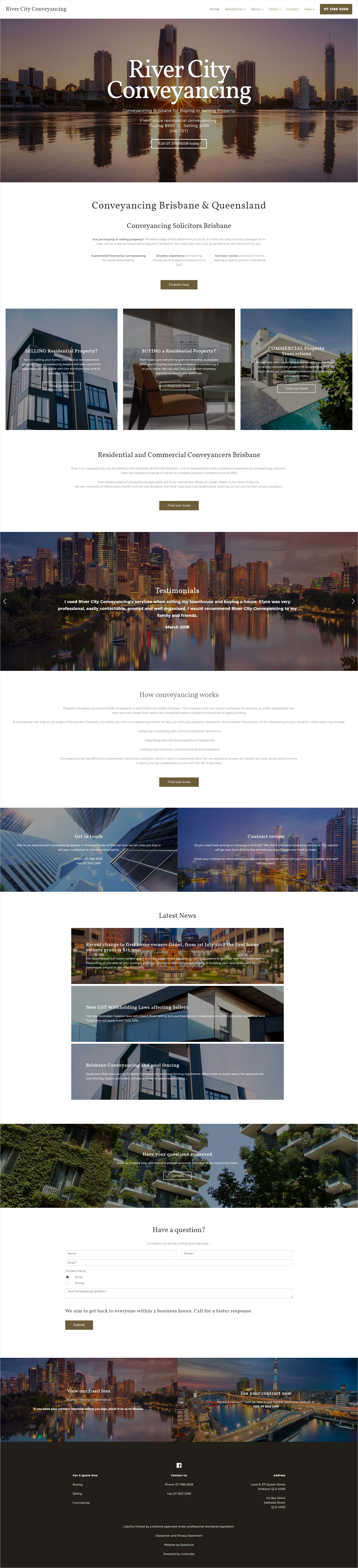 River City Conveyancing Home Page