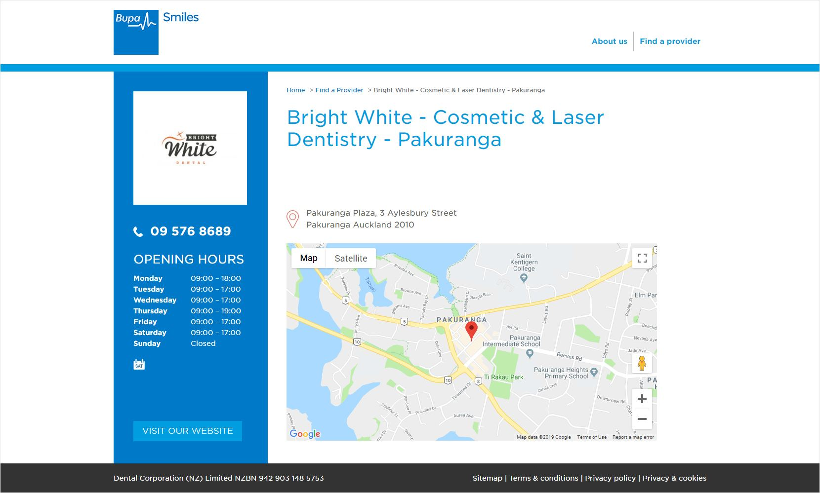 Bupa Smiles Clinic Page