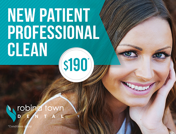 robina teeth whitening promotion