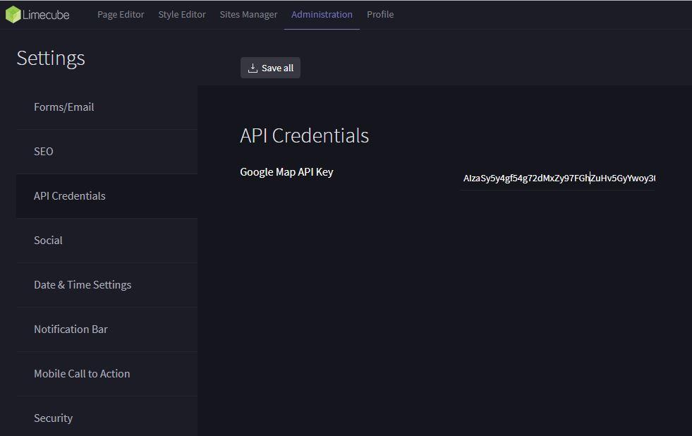 Maps API Key