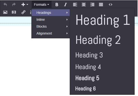 Structure Content with Headings