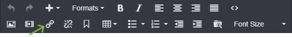 link icon on the content editing toolbar