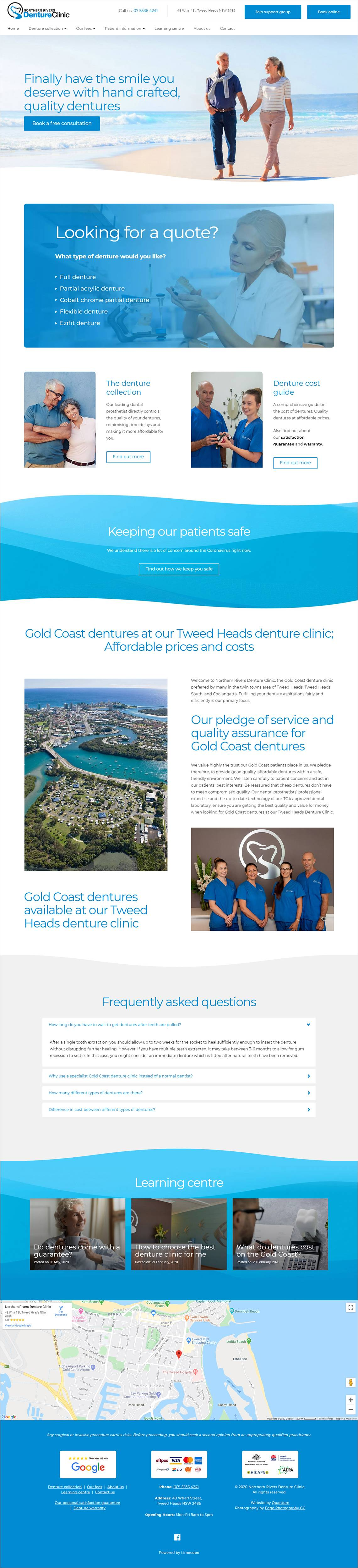 Northern Rivers Denture Clinic Full Home Page