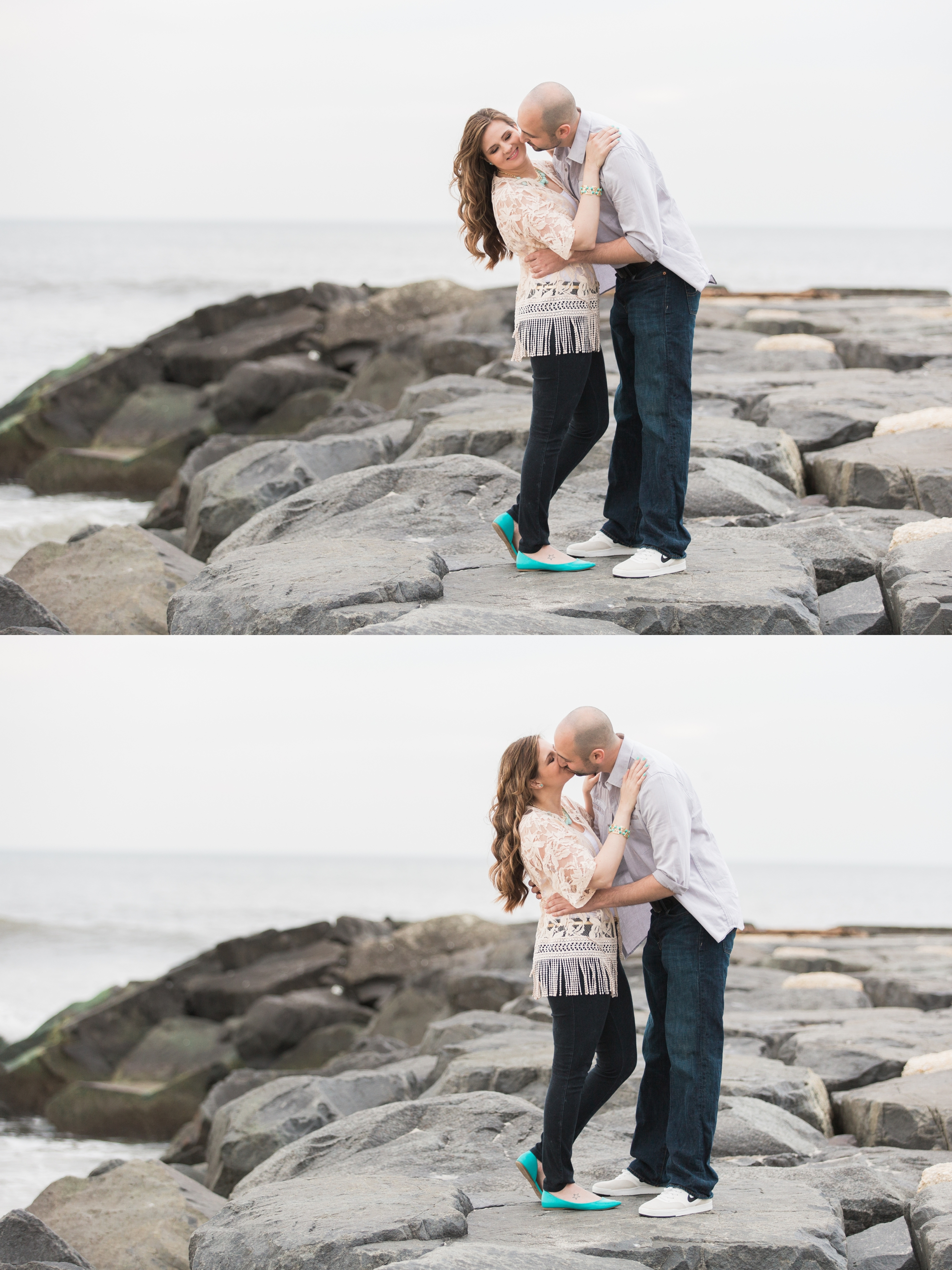Leia + Taylor Engagement Photography in Asbury Park, NJ