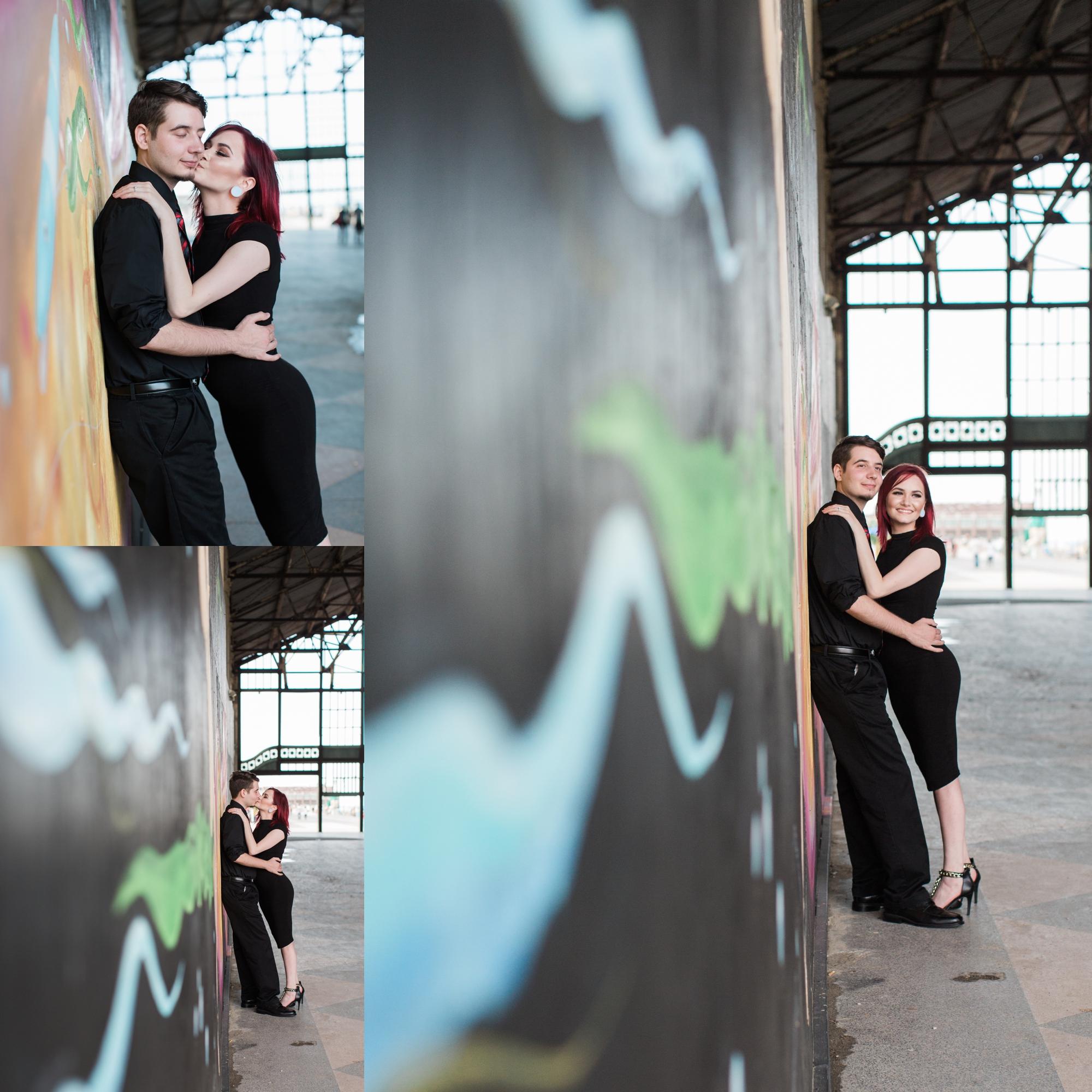 Nicole + Jesse Asbury Park Engagement Photography
