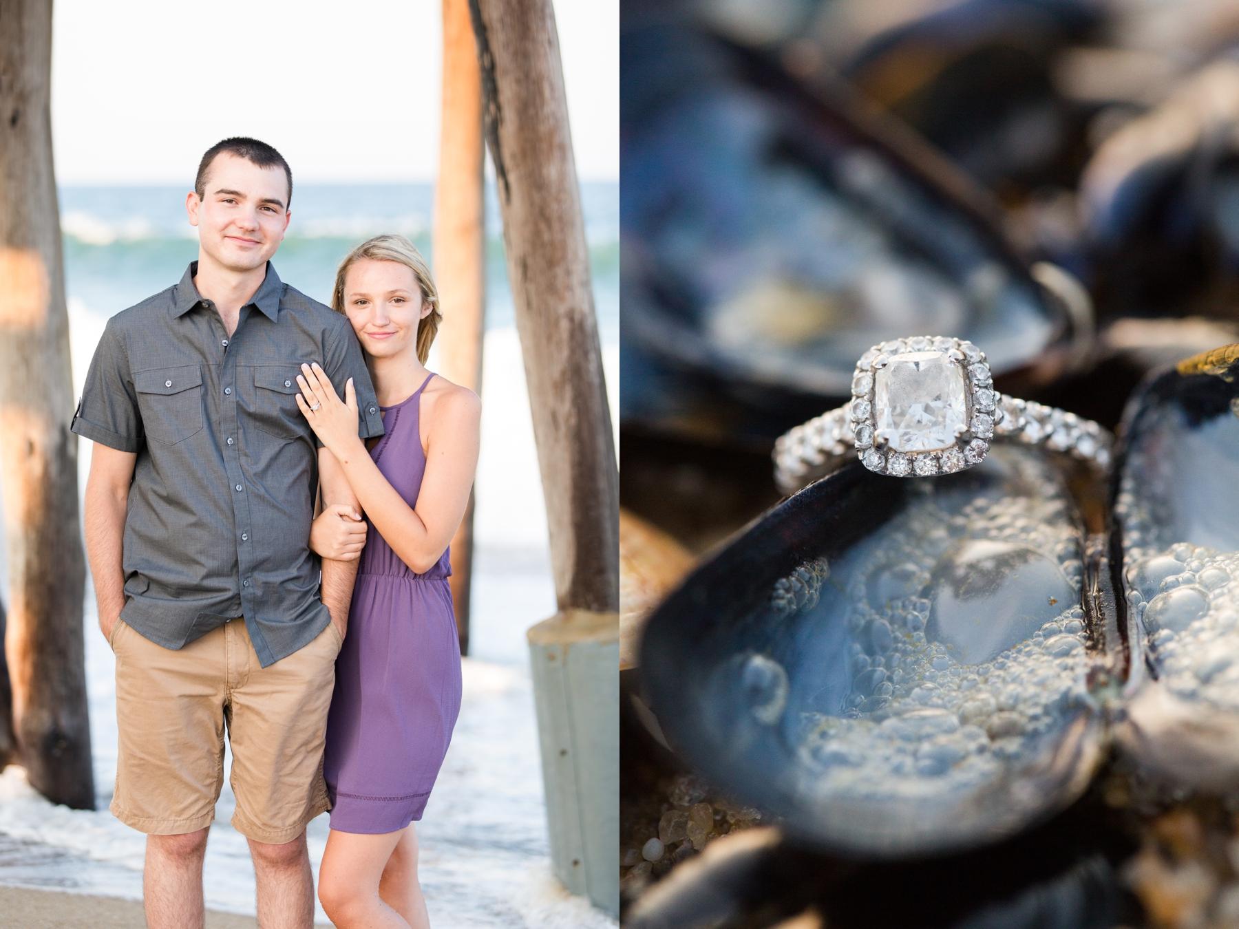 Shayna + Shane's Summer Engagement Photos at Belmar Beach