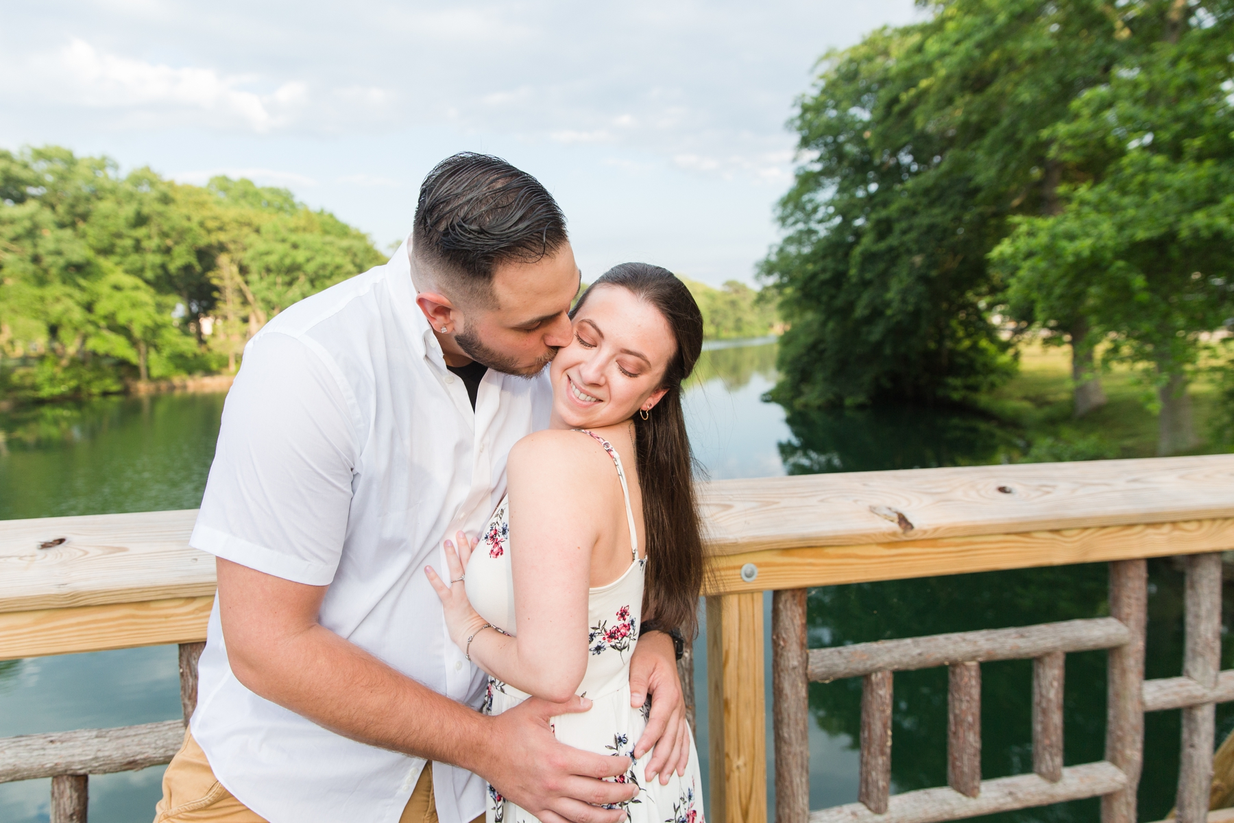 Rebecca + George's Park and Beach Engagement Photography at Spring Lake