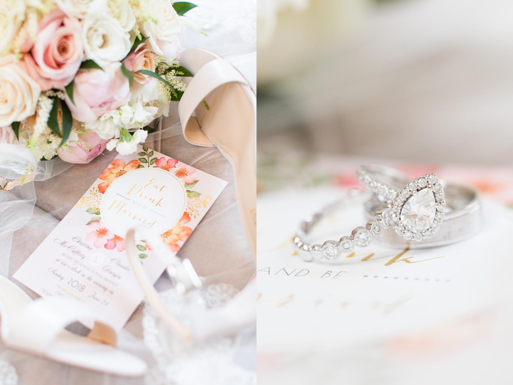 Rings in Wedding at English Manor NJ